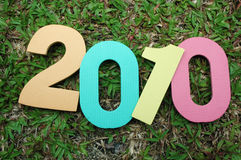 Nieuwjaar 2010 Royalty-vrije Stock Afbeelding