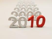 Nieuwjaar 2010 royalty-vrije illustratie