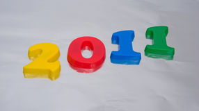 Nieuwjaar 2011. Stock Afbeeldingen