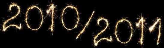 Nieuwjaar 2011 en het jaar vooruit Stock Afbeelding