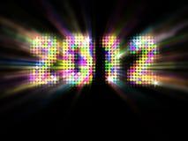Nieuwjaar 2012 Stock Afbeeldingen