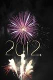 Nieuwjaar 2012 Stock Afbeelding