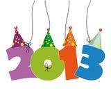 Nieuwjaar 2013 Stock Afbeelding