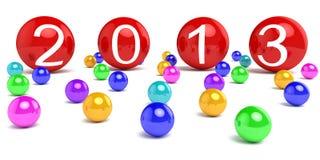 Nieuwjaar 2013 stock illustratie