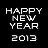 Nieuwjaar 2013 royalty-vrije illustratie