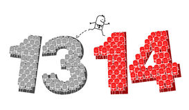 Nieuwjaar 2014 Royalty-vrije Stock Afbeeldingen