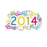 Nieuwjaar 2014 Royalty-vrije Stock Afbeelding