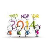 Nieuwjaar 2014 Royalty-vrije Stock Foto's