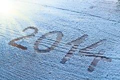 Nieuwjaar 2014. Stock Afbeeldingen