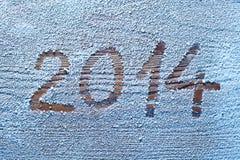 Nieuwjaar 2014. Royalty-vrije Stock Afbeelding