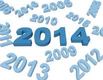 Nieuwjaar 2014 Royalty-vrije Stock Fotografie