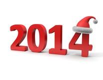 Nieuwjaar 2014 Stock Afbeelding