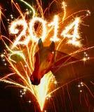 Nieuwjaar 2014. Stock Afbeelding