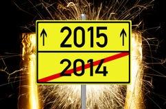 Nieuwjaar 2015 Stock Foto