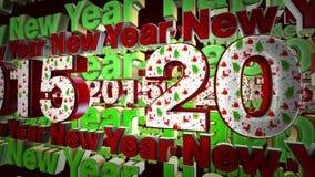 2015 nieuwjaar stock video