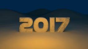 2017 nieuwjaar stock illustratie