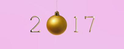 2017 nieuwjaar Royalty-vrije Stock Foto's