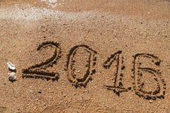 Nieuwjaar 2016 achtergrond Royalty-vrije Stock Foto