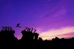 Nieuwjaar 2017 achtergrondconcept Stock Foto's