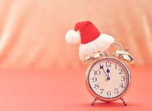 Nieuwjaar achtergronddecoratie Wekker, Ontwerp Royalty-vrije Stock Foto