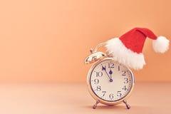 Nieuwjaar achtergronddecoratie Wekker, Ontwerp Royalty-vrije Stock Foto's