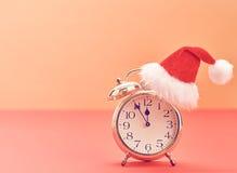 Nieuwjaar achtergronddecoratie Wekker, Ontwerp Royalty-vrije Stock Fotografie