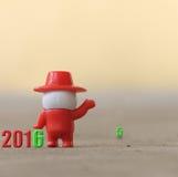 Nieuwjaar 2016 - Afscheid aan jaar 2015 Royalty-vrije Stock Foto's