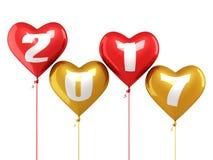 Nieuwjaar 2017 ballons vector illustratie