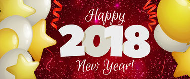 Nieuwjaar 2018 banner Royalty-vrije Stock Fotografie