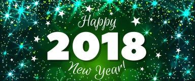 Nieuwjaar 2018 banner Royalty-vrije Stock Foto