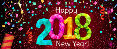 Nieuwjaar 2018 banner Royalty-vrije Stock Afbeeldingen
