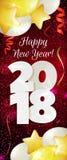 Nieuwjaar 2018 banner Royalty-vrije Stock Foto's