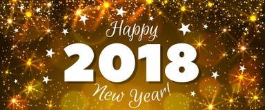 Nieuwjaar 2018 banner Stock Afbeeldingen