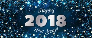 Nieuwjaar 2018 banner Stock Foto's