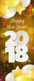 Nieuwjaar 2018 banner Stock Fotografie