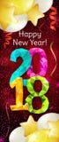 Nieuwjaar 2018 banner Royalty-vrije Stock Afbeelding