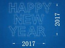 Nieuwjaar - Blauwdruk royalty-vrije illustratie