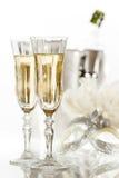 Nieuwjaar Champagne stock fotografie