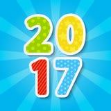 Nieuwjaar 2017 concept Stock Fotografie