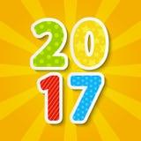Nieuwjaar 2017 concept Royalty-vrije Stock Foto's