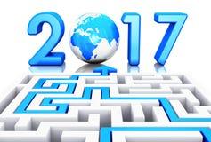 Nieuwjaar 2017 concept Royalty-vrije Stock Fotografie