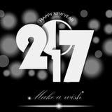 Nieuwjaar 2017 concept op zwarte omringende achtergrond Stock Foto