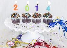 Nieuwjaar Cupcakes Stock Afbeelding