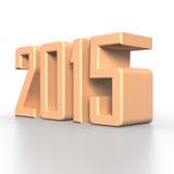 2015 nieuwjaar in 3D Royalty-vrije Stock Afbeeldingen