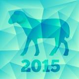 Nieuwjaar de Geit of Schapen 2015, veelhoekig geometrisch patroon Royalty-vrije Stock Foto's