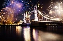 Nieuwjaar in de stad Stock Foto