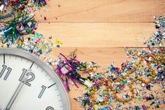 Nieuwjaar: De Vieringsachtergrond van de nieuwjaarpartij Royalty-vrije Stock Afbeeldingen