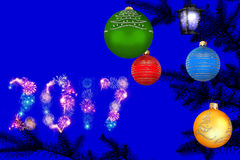 Nieuwjaar dromerige nacht Royalty-vrije Stock Foto
