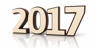 Nieuwjaar 2017 en chocolade stock illustratie