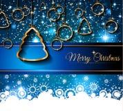 2015 nieuwjaar en Gelukkige Kerstmisachtergrond Stock Afbeeldingen